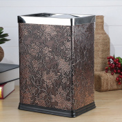 Stainless Steel Trash Cans Household Living Room Kitchen Bathroom Pedal 12L