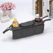 Chen Rui™ Portable Rear Pallet-type Oxford Hanging Bag Feeding Bottle Drinks Food Holder Organiser for Baby Trolley Wheelbarrow Strollers Pushchair Buggy