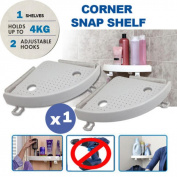 Kemilove Quick Fix Corner Shower Caddy Shampoo Holder Organiser Storage for Kitchen Bathroom