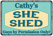 Cathy's SHE SHED Vintage Look Sign 8x12 Chic Woman Metal Wall Décor 8127931