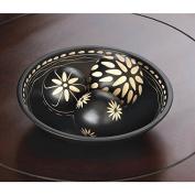Decor EBONY DECORATIVE BALL SET Mantle New Gift Desk Office Room Den Wood