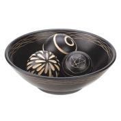 Fennco Styles Home Decor Decorative Centrepiece Display Wooden Bowl with Three Balls