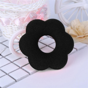 Flower Type French Hair Band, Lotus.flower Hot Women Spongy Hair Bun Donuts Ring Blonde Hair Extension