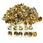 Yalulu 1.6cm Gold/Silver Celebration Bells Craft ( 100 Pack ) for Christmas Festival Decoration DIY Craft