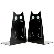 Cartoon Cat Bookends Nonskid Bookend,1 Pair(Black) Black New