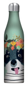 Studio Oh! 740ml Insulated Stainless Steel Water Bottle, Fancy Dog