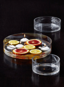 """Serene Spaces Living Low Glass Bowls – Low-Profile Bowls for Floating Candles, 10"""" Diameter, 2"""" Tall"""