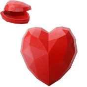 Ebros Gift Decorative Large Red Heart Box 15cm Length Heart Shaped Valentine Jewellery Box Figurine Collectible