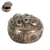 Ebros Gift Kraken Octopus Decorative Round Jewellery Box 10cm Diameter Figurine Nautical Anchor Giant Sea Monster Bronze Finish Resin