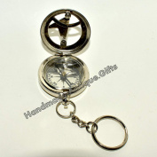 Brass Nautical Antique Vintage Pocket Push Button West Navy London Compass
