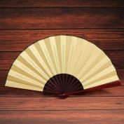 Decorative Handheld Silk Fan, Lotus.flower Pattern Folding Dance Wedding Party Lace Silk Folding Hand Held Solid Colour Fan