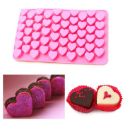 KESEE☀♥55-Cavity Silicone Candy Moulds/Chocolates Moulds/Ice Cube Trays, MINI Heart Shaped