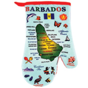 Barbados Blue Map Souvenir 100% Cotton Kitchen Oven Mitt