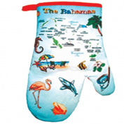 The Bahamas Blue Map Souvenir 100% Cotton Kitchen Oven Mitt