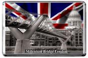 C405 MILLENIUM BRIDGE LONDON FRIDGE MAGNET ENGLAND TRAVEL PHOTO REFRIGERATOR MAGNET