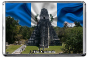 C350 TIKAL FRIDGE MAGNET GUATEMALA TRAVEL PHOTO REFRIGERATOR MAGNET