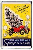 A296 HELP WIN THE WAR FRIDGE MAGNET VINTAGE REFRIGERATOR MAGNET