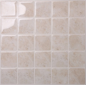 Tic Tac Tiles Anti-mould Peel and Stick Wall Tile in Marmo Travertine
