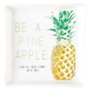 Be a Pineapple Wear a Crown Be Sweet 4 x 4 White Porcelain Decorative Tray