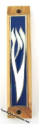 Olive Wood Door Mezuzah From Holy Land with Scroll