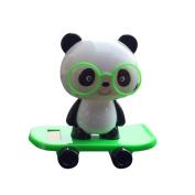 FTXJ Solar-Powered Dancing Cute Glasses Panda Office Desk Display Car Decoration