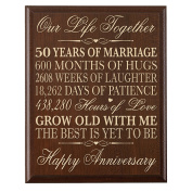 Dayspring Milestones 50th Wedding Anniversary Gifts for Couple, 50th Anniversary Gifts for Her,50th Wedding Anniversary Gifts for Him 30cm W X 38cm H Wall Plaque