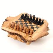 Olive Wood Chess Game Rustic Handmade