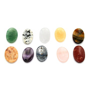 10 (TEN) Worry Stone Slab Mixed Stones - Thumb Stone - Palm Stone with RP Exclusive COA