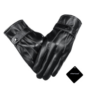 xhorizon SR Touchscreen Texting Winter Warm Driving PU Faux Leather Gloves