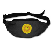 Cartoon Sunflower Adjustable Belt Waist Pack Waist Bag Running Pack Travel For Men Women