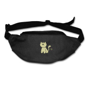 Cartoon Cat Adjustable Belt Waist Pack Waist Bag Running Pack Walking For Men Women