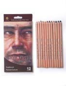 MEEDEN 12 Colour Professional Skin Tints Soft Pastel Colour Pencils for Drawing School Lapices De Colores Stationery Pack of 1