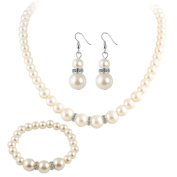 Iumer Bridal Necklace and Earrings Jewellery Set Gifts fit with Wedding Dress