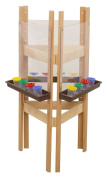 3-Sided Adjustable Easel with Acrylic and Brown Trays