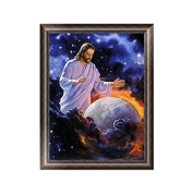 Wrisky 5D Diamond Embroidery Religious Painting Cross Stitch Art Craft Home Decoration