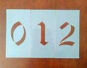 Olde Font Number Set Stencil