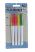Set of 4 Neon Colour Fabric Markers Permanent Craft and Hobby Allary #868-02