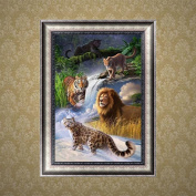 Wrisky DIY 5D Diamond Embroidery Tiger Lion Painting Cross Stitch Art Craft Home Decor