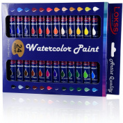 Lokss Watercolour Paint Set - 24 Colours - Non Toxic & Vivid Colours – Premium Quality For Artists, Students & Beginners. Easy To Blend & Excellent Coverage. Great Gift!