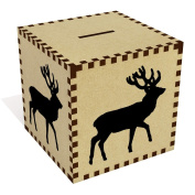 Large 'Deer Stag Silhouette' Money Box / Piggy Bank