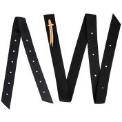 2 Piece Black Nylon Cinch Strap And Off Billet Saddle Set Double Ply