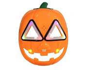 URToys 1Pcs Funny Design Mask Pumpkin Flash LED Lighting Masks With Sound Children's Day Gift Cosplay Props Halloween Party Supplies