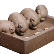 Pottery Feeding Four Piglets Clay Products Tea Pet Coffee Table Home Decoration Office Furnishing