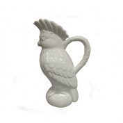 Comfy Hour 30cm Porcelain Parrot Pitcher Water Jug, White, Modern Style,