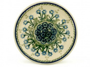 Polish Pottery Saucer 15cm Blue Daisy Circle made by Ceramika Artystyczna