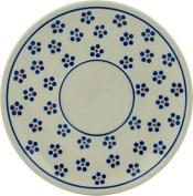 Polish Pottery Saucer 15cm Daisy Dots