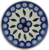 Polish Pottery Saucer 13cm Peacock
