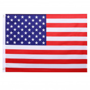 Cosway 0.6m x 0.9m U.S. American Flag USA Printed Stars and Brass Grommets Quality Polyester American Flag Indoor/Outdoor