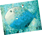 Wowdecor Paint by Numbers Kits for Adults Kids, Number Painting - Big Fish 41cm x 50cm