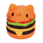 1Pc Squeeze Toys, UBuyit Jumbo Cartoon Cat Hamburger Squishy Slow Rising Stress Relief Toy Decor Gift